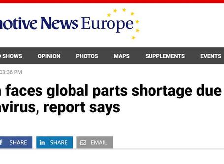 Shortage of Motor Parts due to Coronavirus