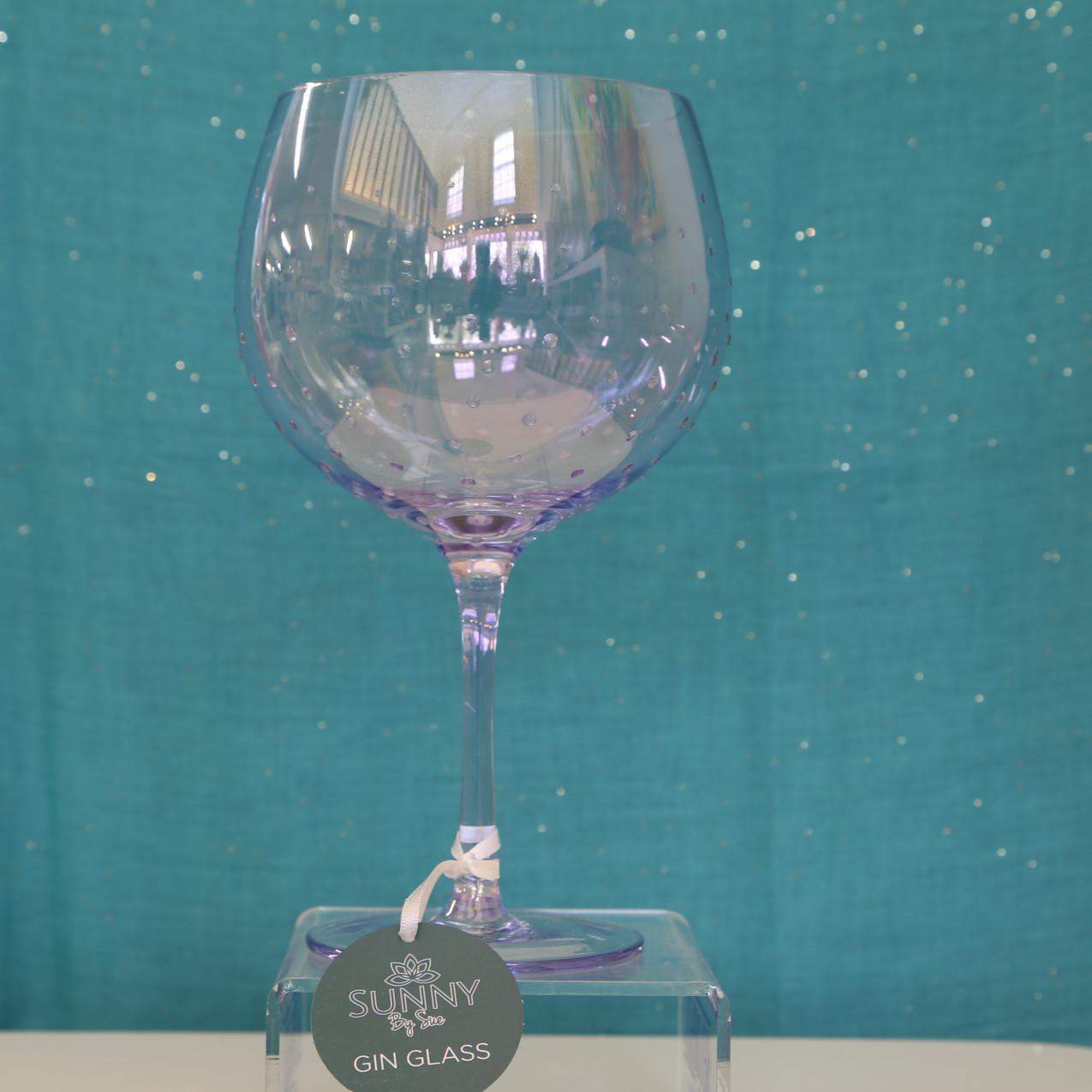 Gin Glass Purple