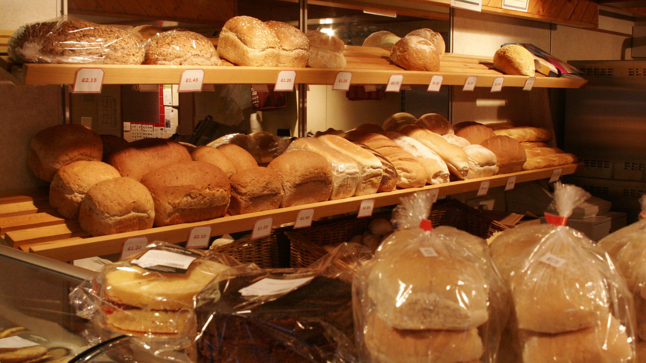 Fresh bread at Revetts