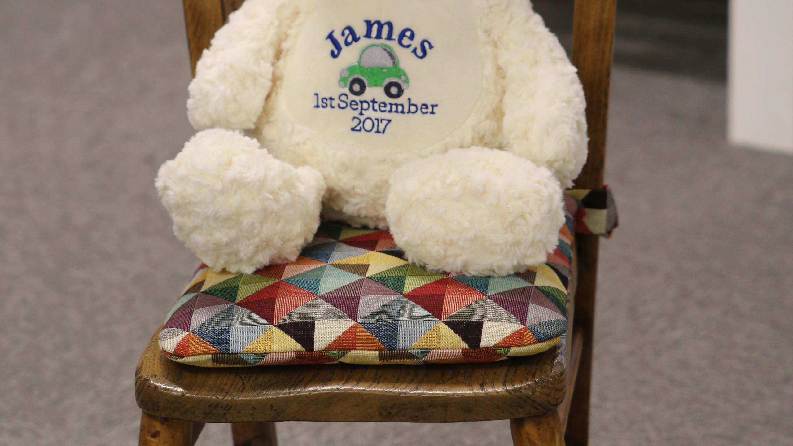 James sitting comfortably