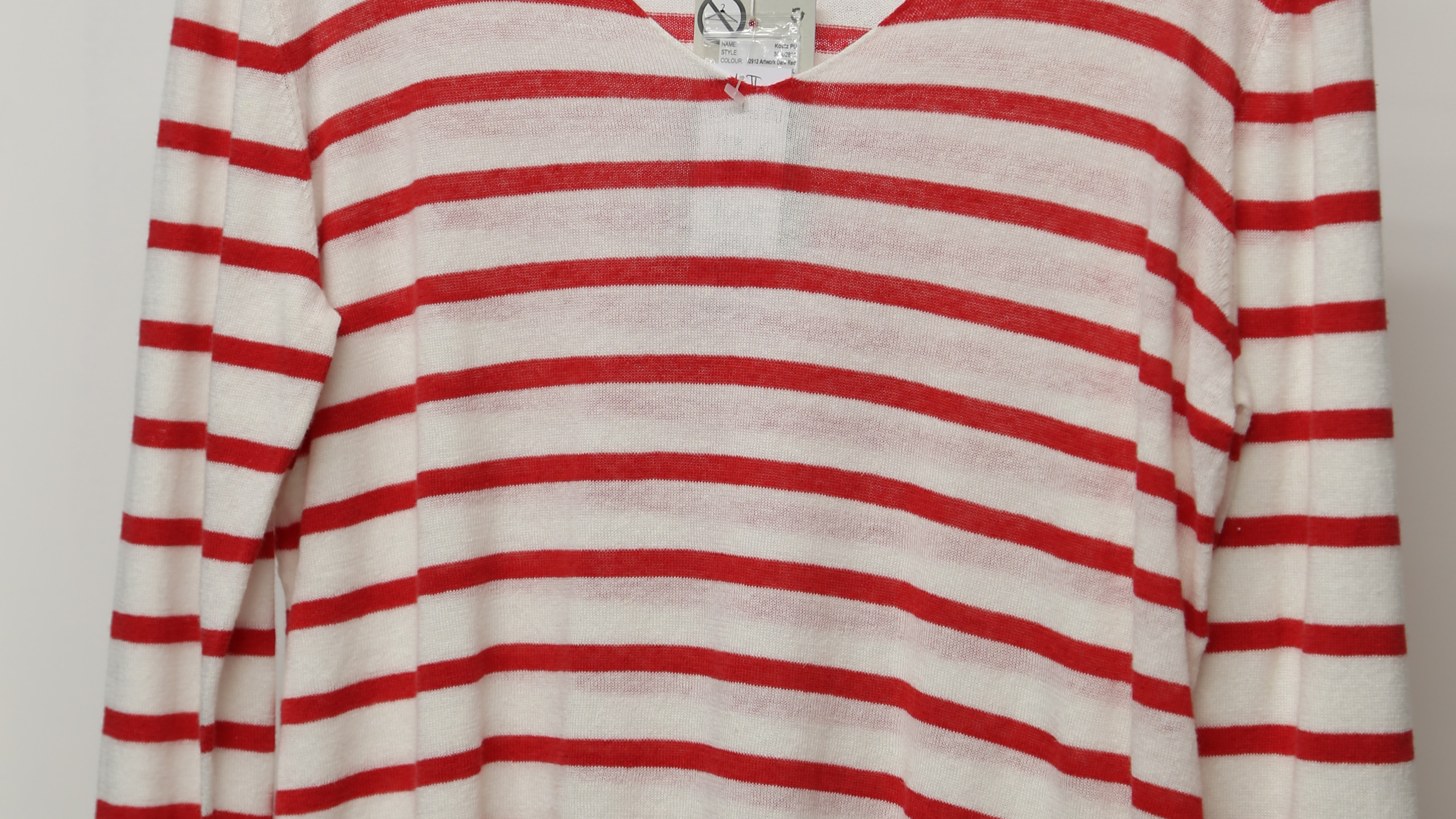 Part Two - red Breton striped top