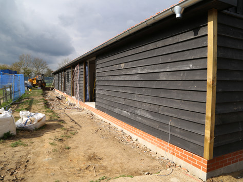 The new reception and campsite facilities