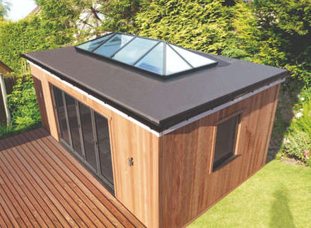 Flat roof extensions with Firestone EPDM