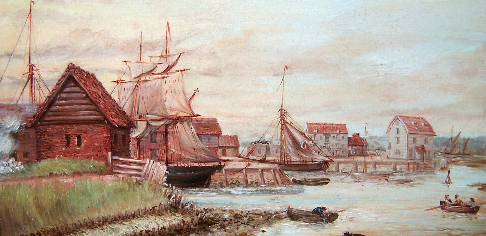 Woodbridge, with Tide Mill 1890 Oil painting by Charles Kell
