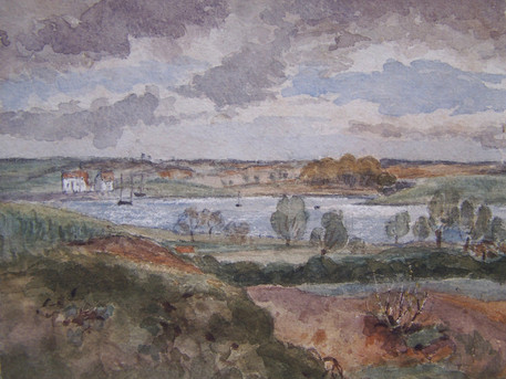 An Exhibition of Suffolk views by Traditional Artists, featuring THOMAS CHURCHYARD of Woodbridge, 17