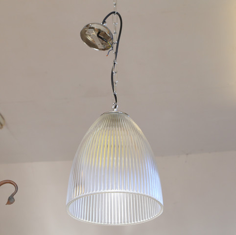 Patterned glass ceiling light