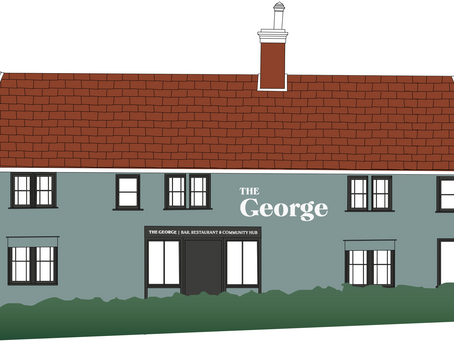 Suffolk County Councillor shows his support for the George