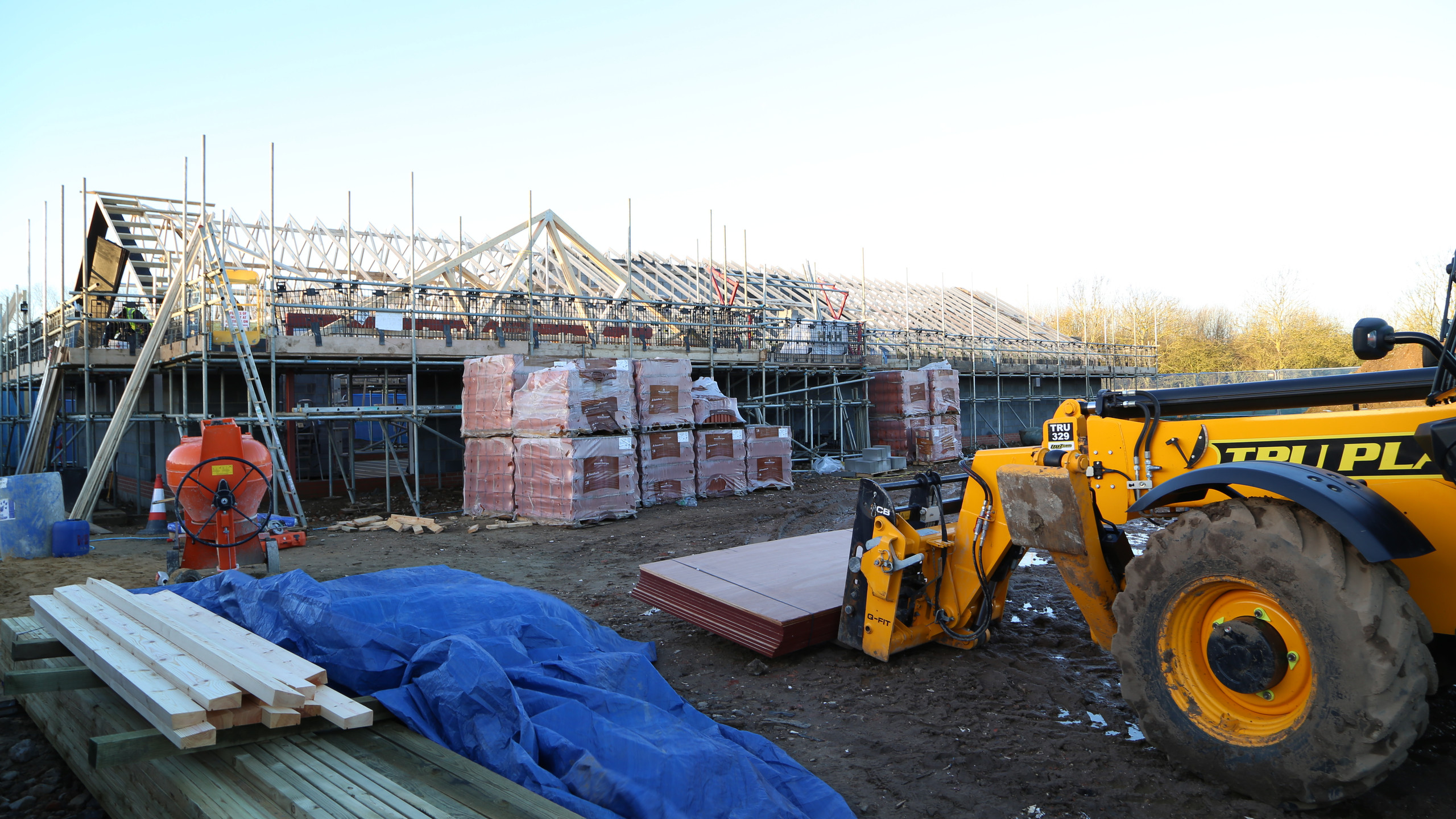 Roof going on at Easton Farm Park