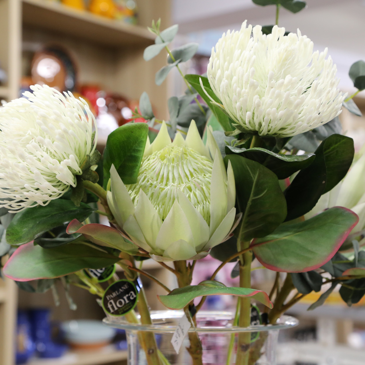 A selection of artifical flowers