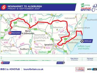 Men's Tour route through Wickham Market