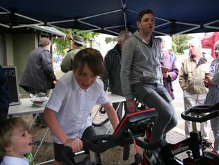 Elvis impressed at the Wickham Market Watt Bike Challenge