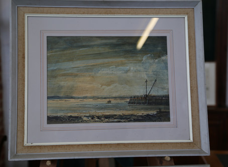 Slaughden Quay Oil Painting by Cavendish Morton - SOLD