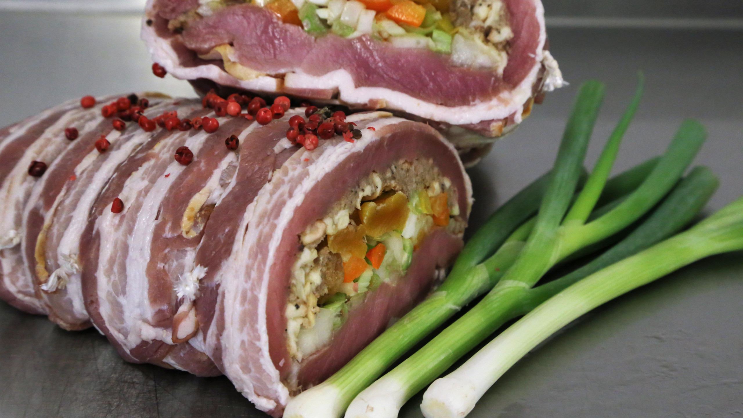 Delicious stuffed pork