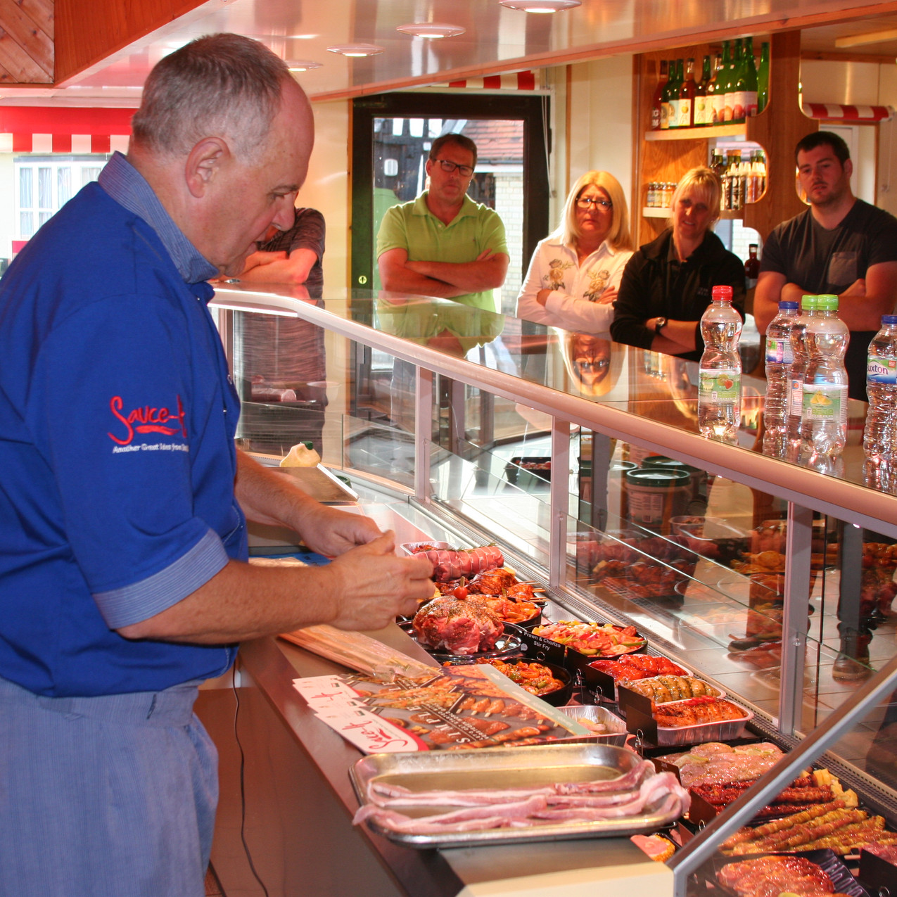 Butchers being taught new recipes