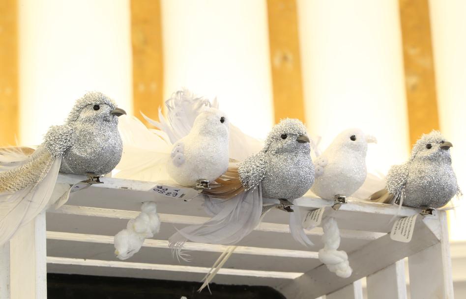 Flock of Christmas birds