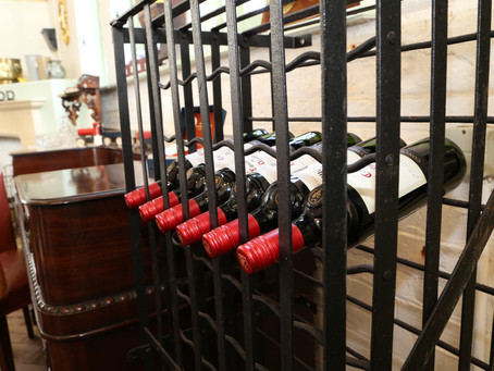 Antique 72 bottle iron wine rack - £495