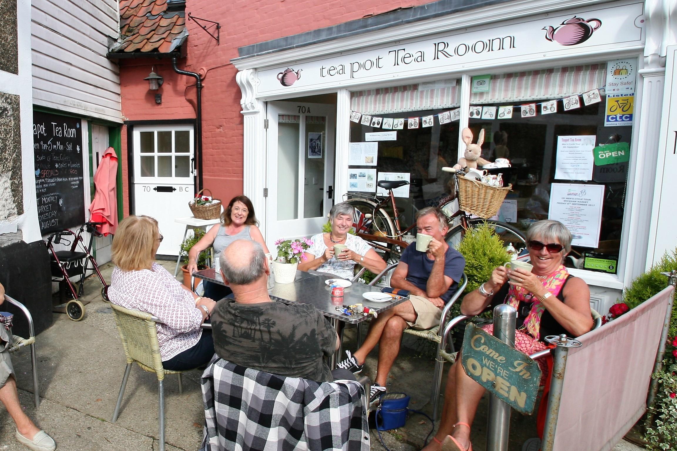 tea pot Tea Room, Wickham Market