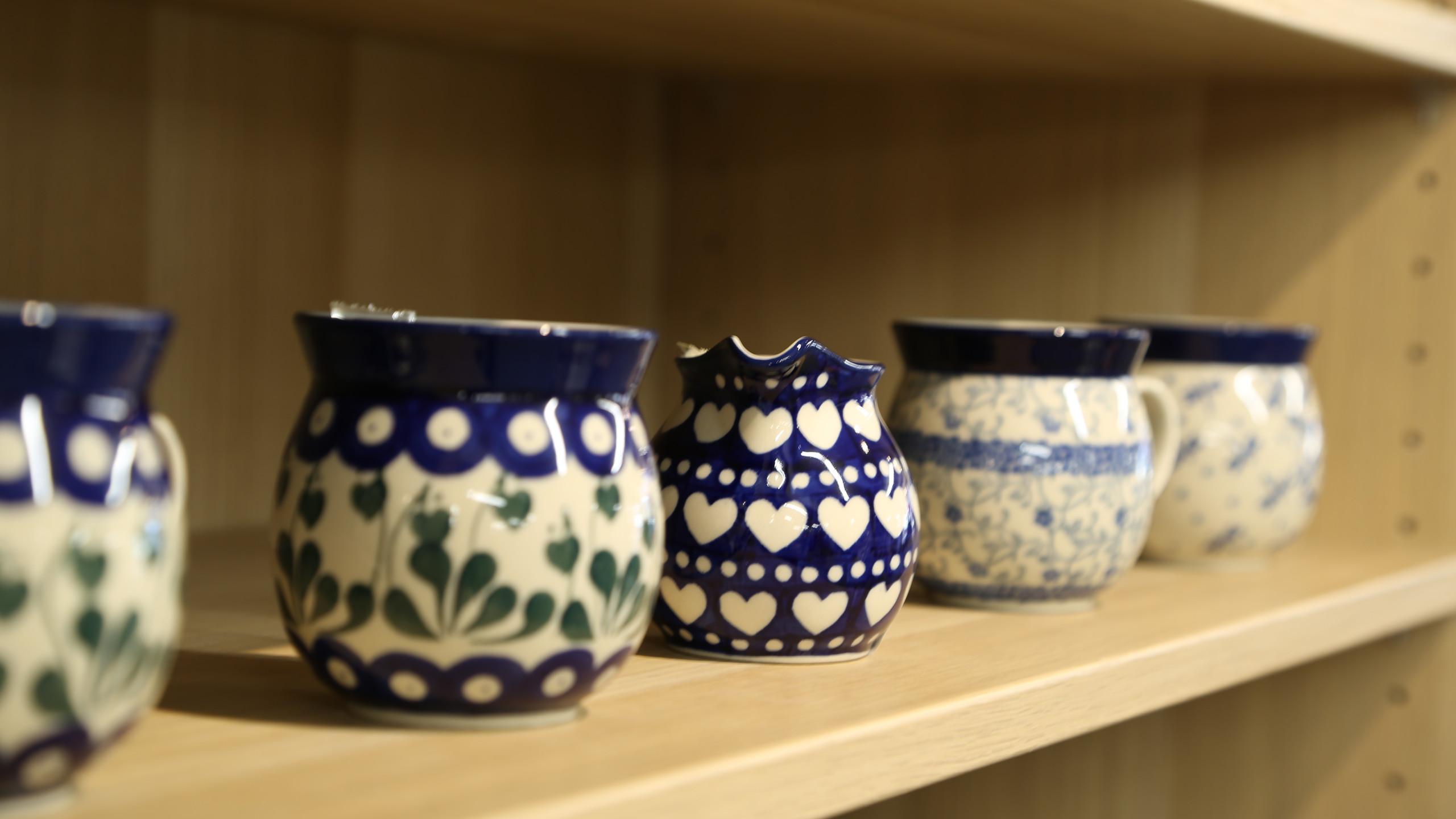 Polish Pottery jugs