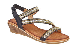 Cipriata Black Ornate Sandal