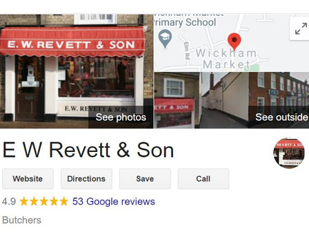 Thank you for our Google reviews