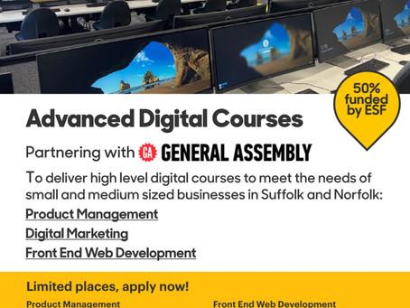 Half price training for digital courses