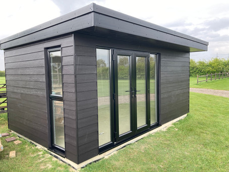 A Garden Office nearly finished