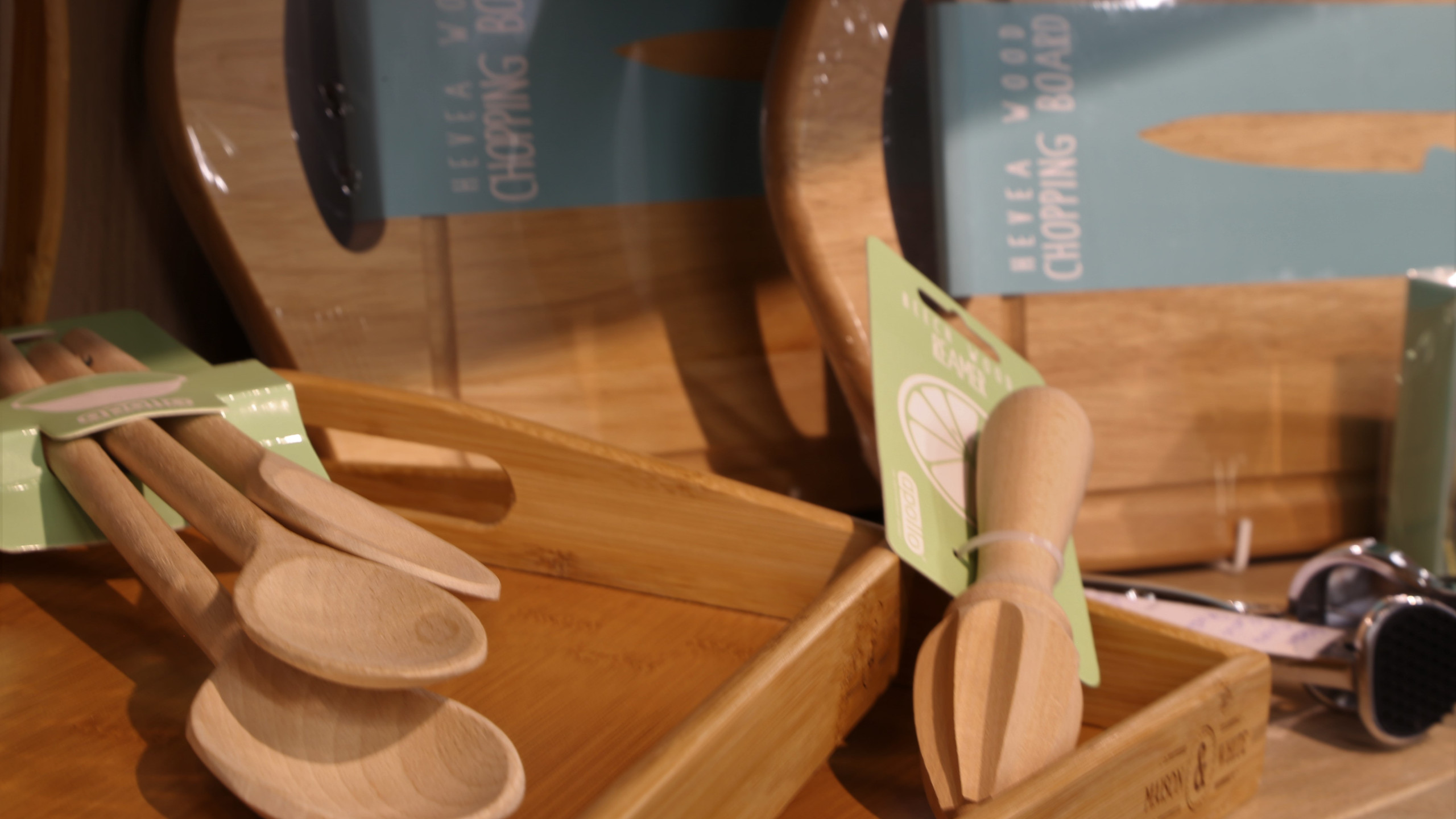 Boards, trays and utensils