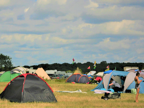 Late summer bank holiday on the campsite