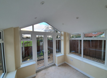 A new build conservatory