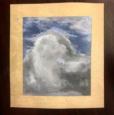2018 A cloud study (9 x 10cm)