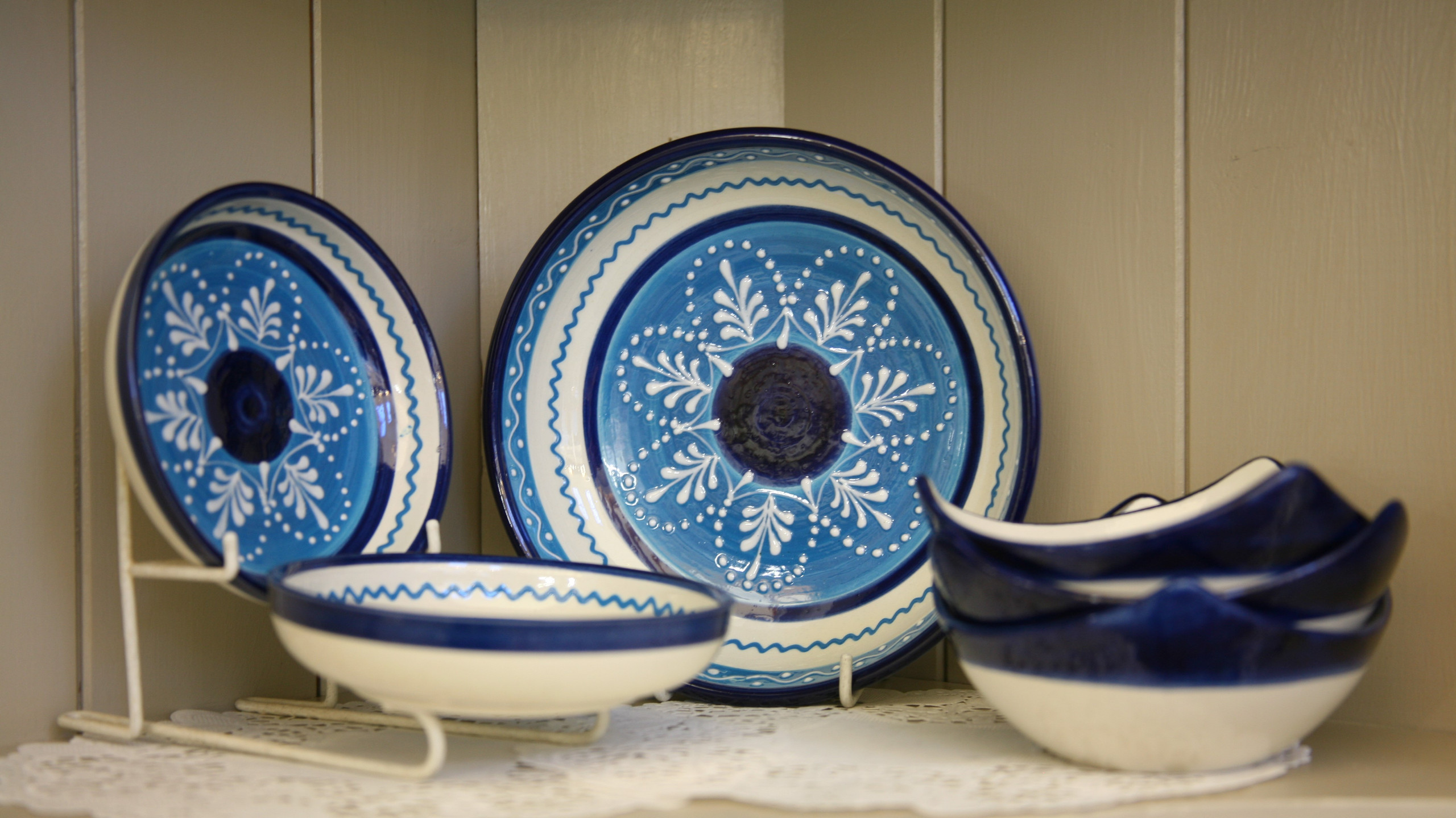 Blue pottery collection