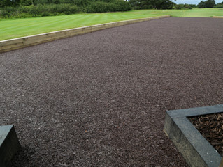 Rubber bark ideal for play areas and golf clubs!