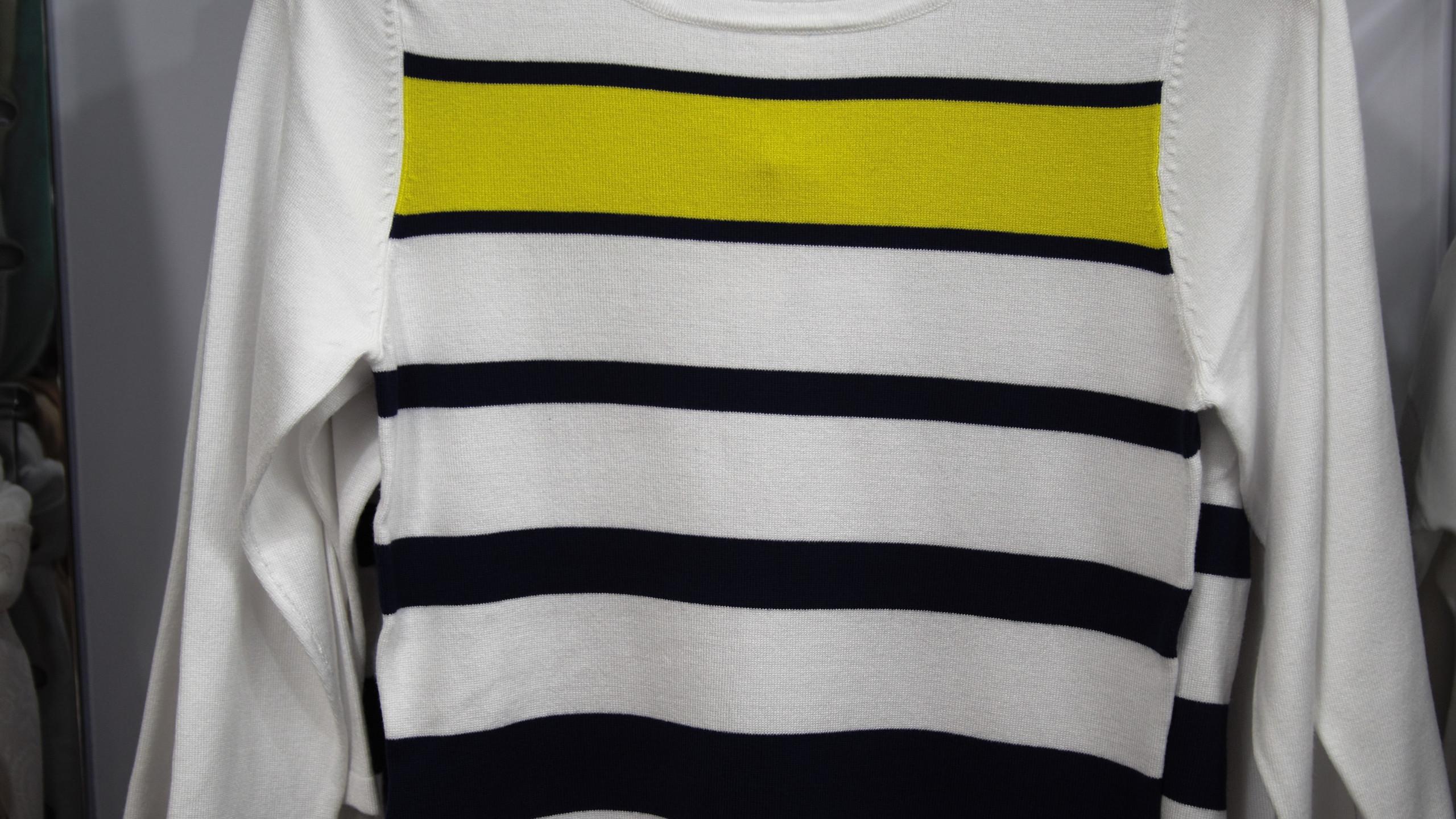 Striped white top