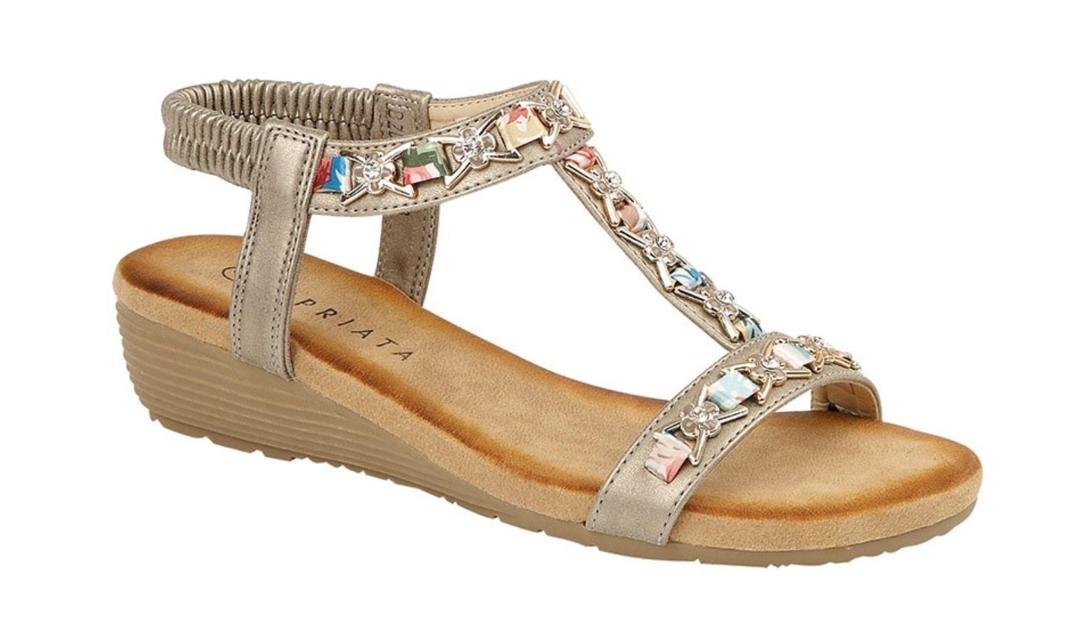 Cipriata Wedge Ornate Sandal