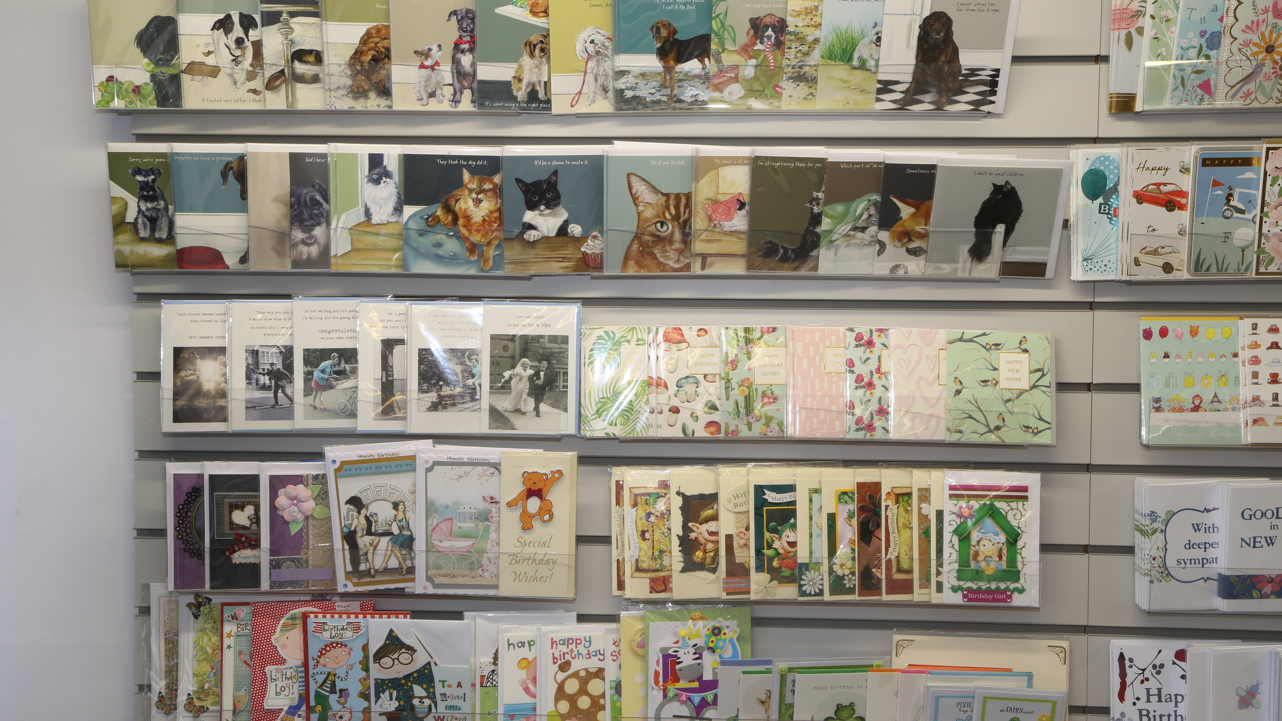 Birthday cards at Inspirations