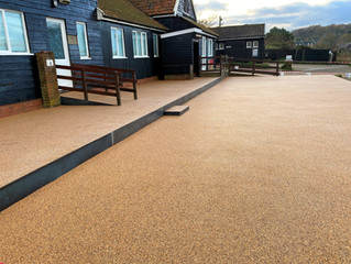 Dunwich Cafe with a resin seating area