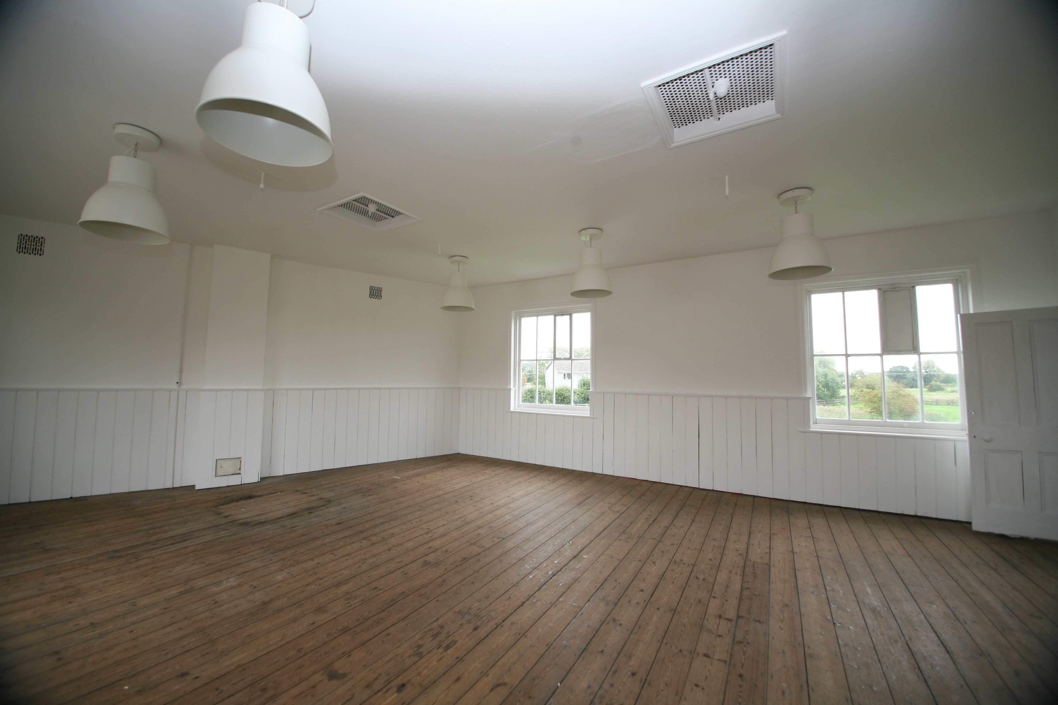 Large space on the first floor