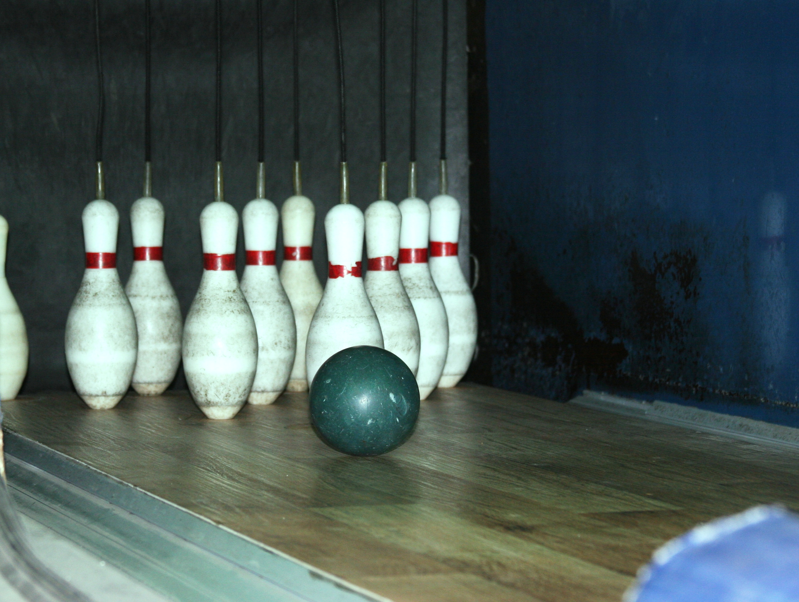 Ten pins going down