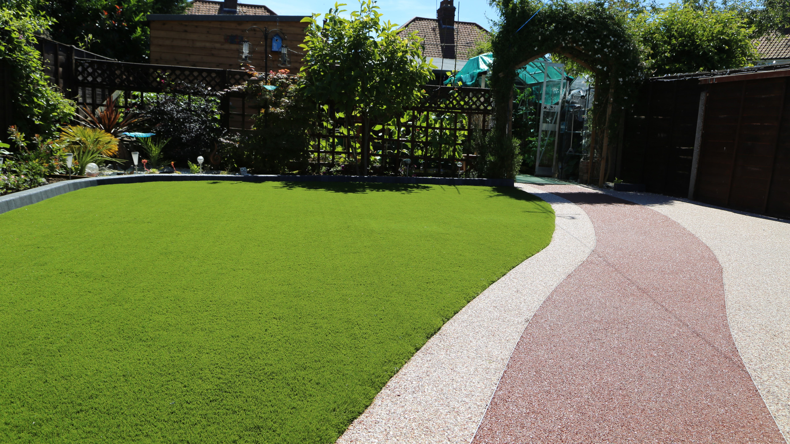 Resin and artificial grass