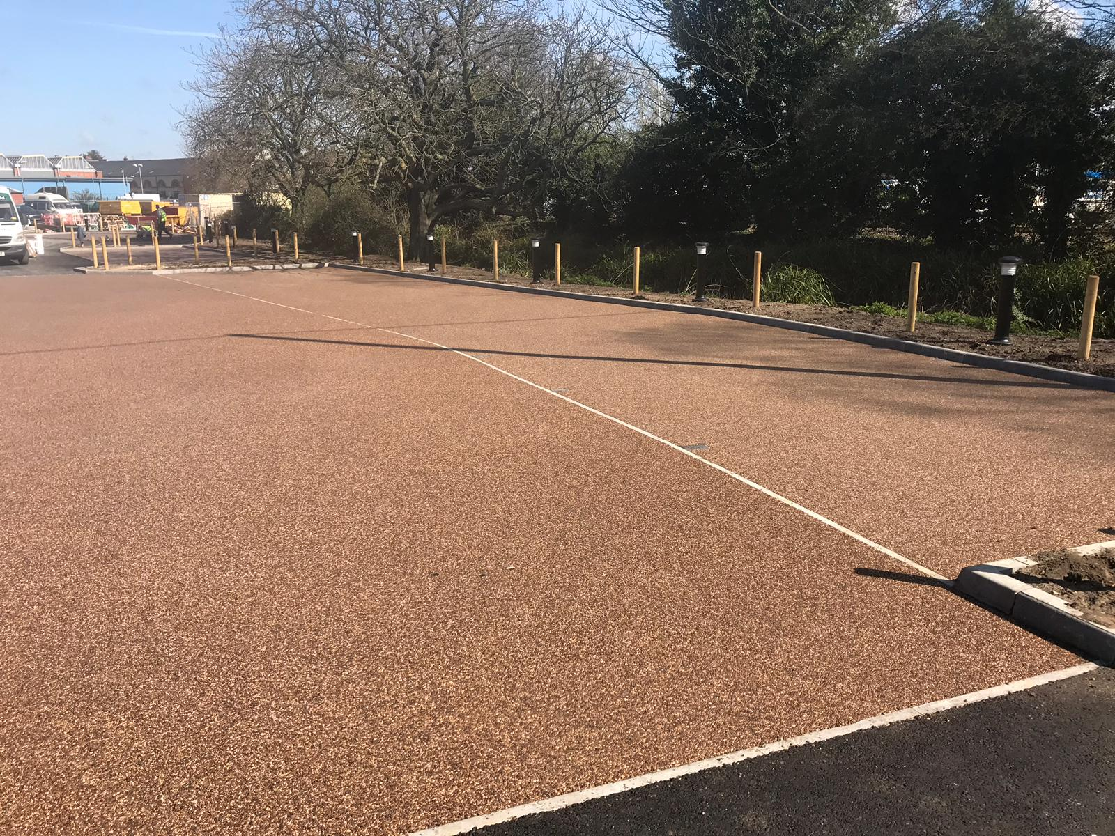 Parking with resin bound surface