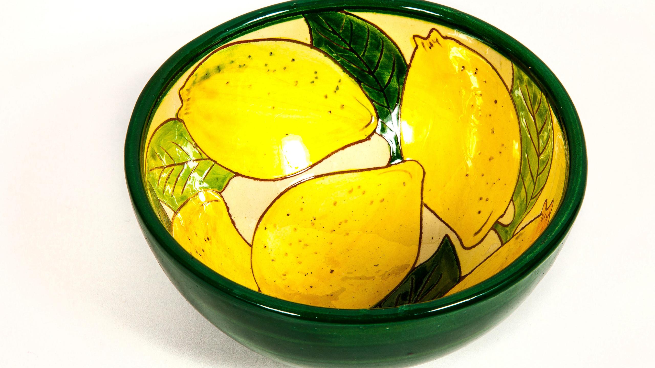 Spanish Ceramics Lemons Appetiser Bowl .