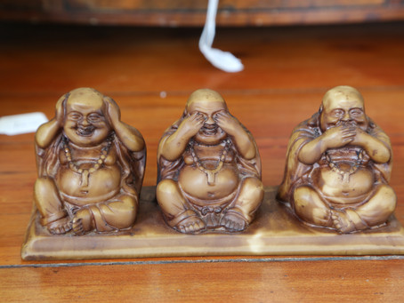 Three Buddhas - SOLD