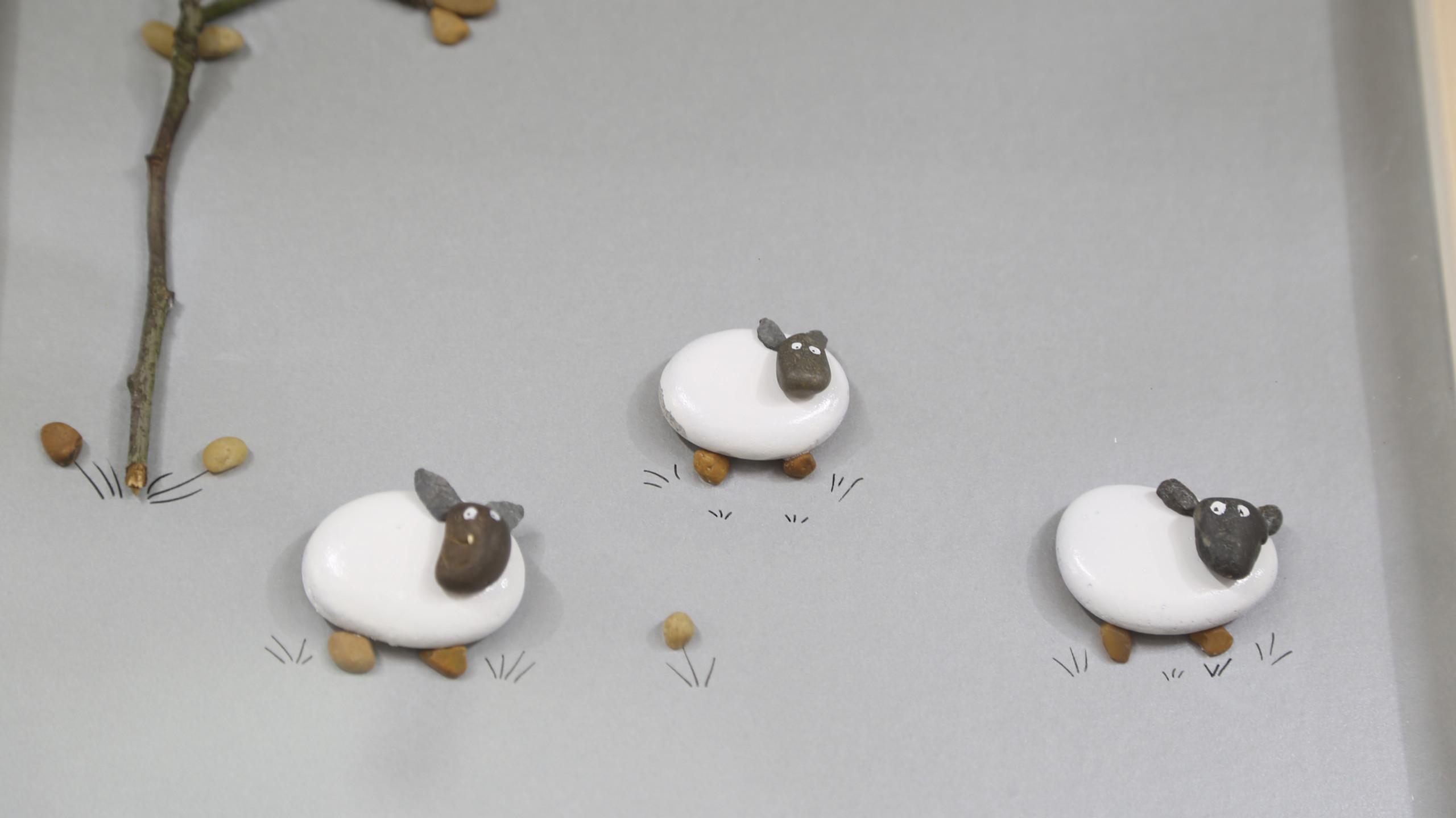 Stone sheep close up