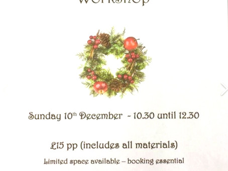 Make your own Holly Wreath at Inspirations, Wickham Market