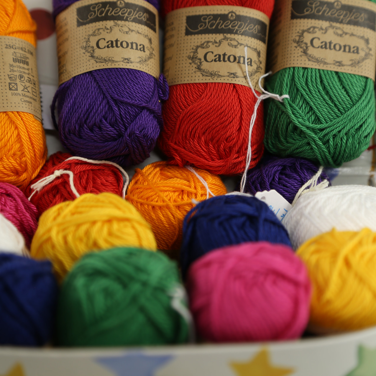 Colourful Catona wool