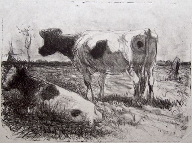 Dutch Scene with cows