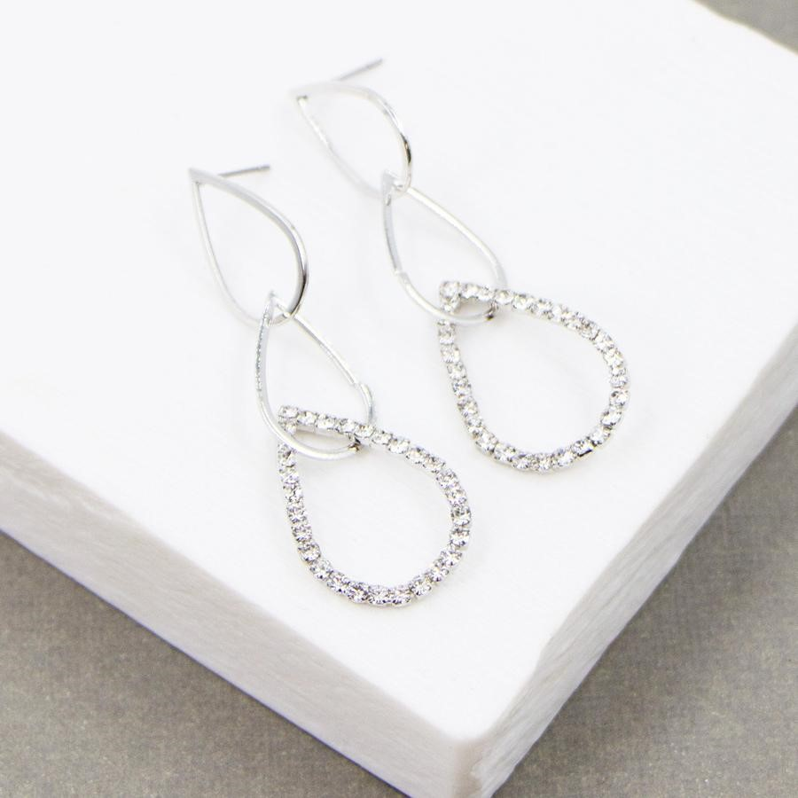 Diamante Tear Drop Earrings £18
