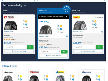 New tyres for your car?