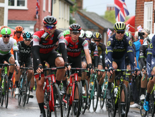 Pictures of the Tour coming through Wickham Market