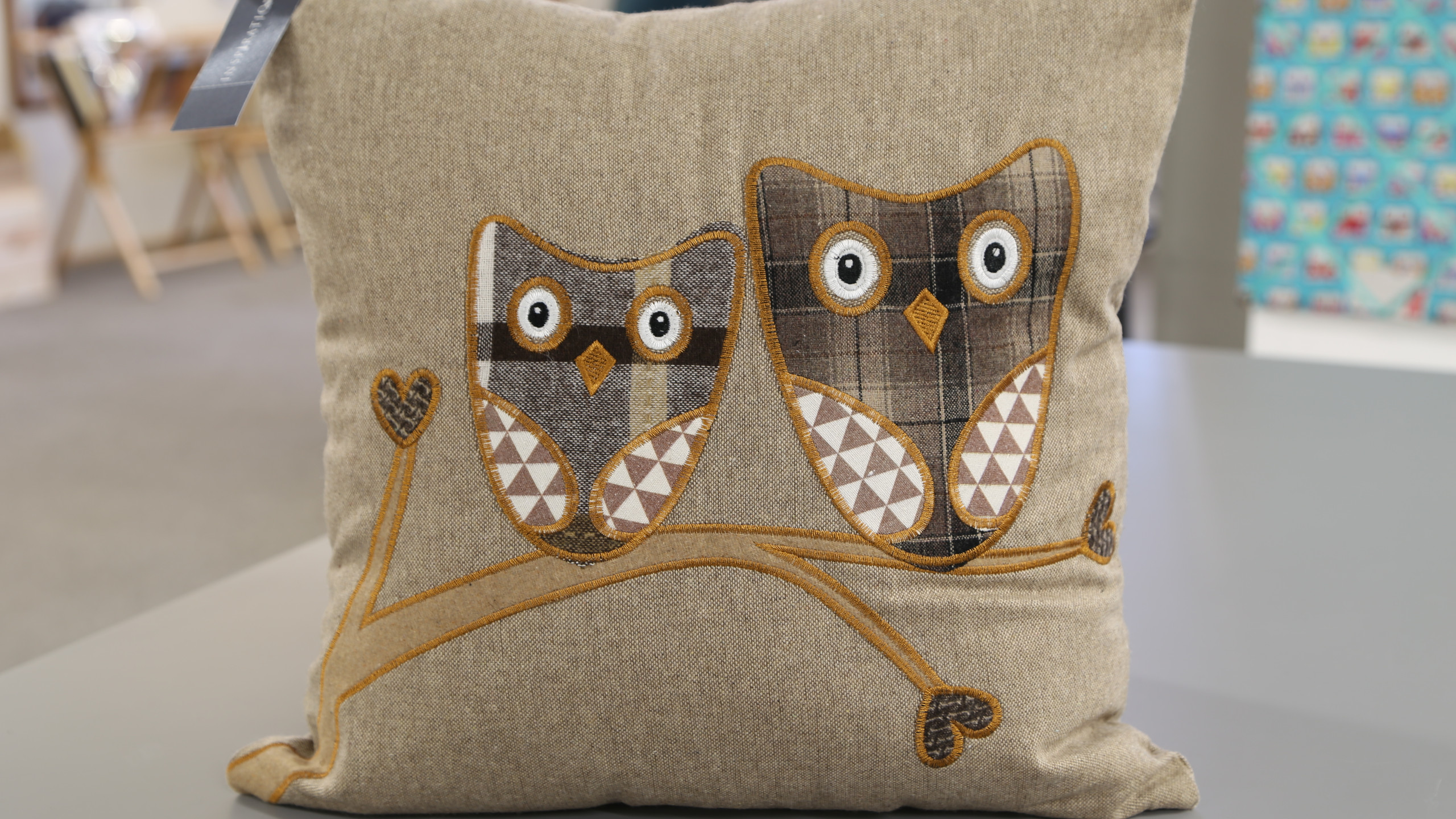 Brown owl cushion